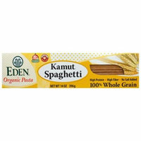 Eden Foods, Organic Pasta, Kamut Spaghetti, 100% Whole Grain, 14 oz (pack of 12)