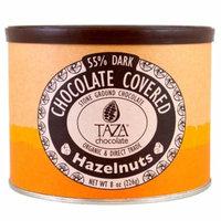 Taza Chocolate, Organic, 55% Dark Stone Ground Chocolate, Chocolate Covered Hazelnuts, 8 oz(pack of 1)