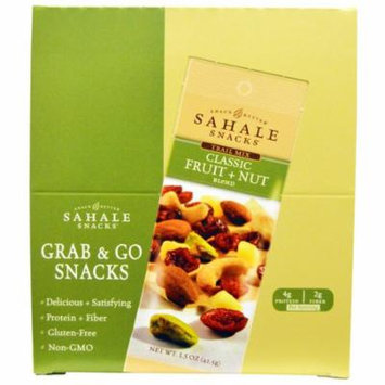 Sahale Snacks, Trail Mix, Classic Fruit + Nut Blend, 9 Packs, 1.5 oz (42.5 g) Each(pack of 6)