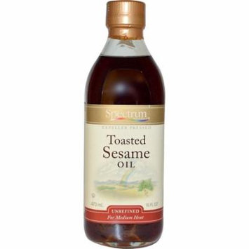 Spectrum Naturals, Toasted Sesame Oil, Unrefined, 16 fl oz (pack of 2)