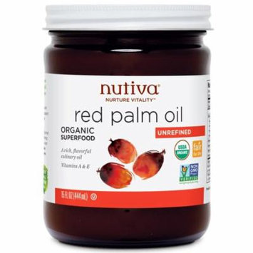 Nutiva, Organic Red Palm Oil, Unrefined, 15 fl oz(pack of 4)