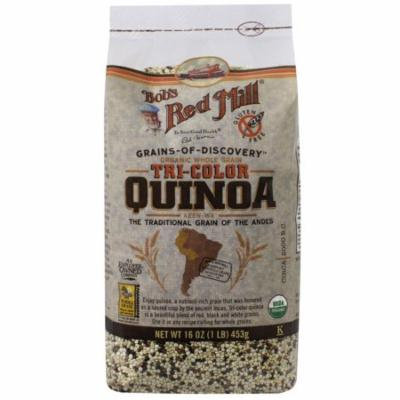 Bob's Red Mill, Organic Whole Grain Tri-Color Quinoa, 16 oz (pack of 3)