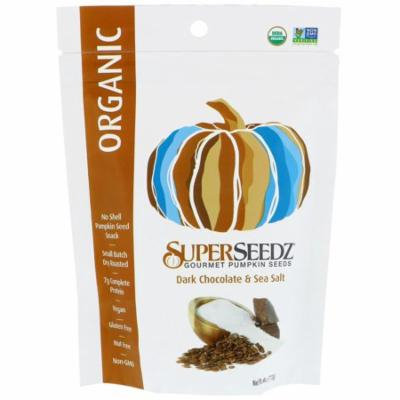 SuperSeedz, Gourmet Pumpkin Seeds, Organic, Dark Chocolate & Sea Salt, 4 oz (pack of 12)