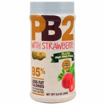 Bell Plantation, PB2, Powdered Peanut Butter with Strawberry, 6.5 oz(pack of 4)