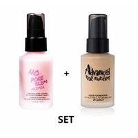 [Touch in Sol] No Pore Blem Primer + Advanced Real Moisture Liquid Foundation 30milliliter no.21 SET