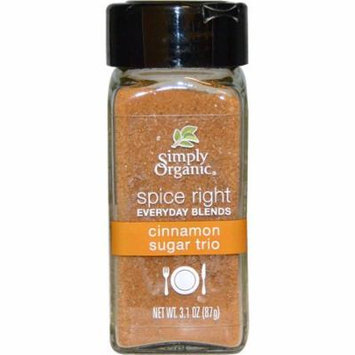 Simply Organic, Organic Spice Right Everyday Blends, Cinnamon Sugar Trio, 3.1 oz (pack of 1)