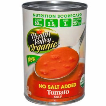 Health Valley, Organic, Tomato Soup, No Salt Added, 15 oz (pack of 4)