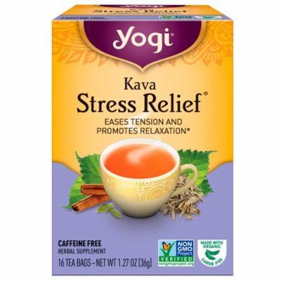 Yogi Tea, Kava Stress Relief, Caffeine Free, 16 Tea Bags, 1.27 oz(pack of 3)
