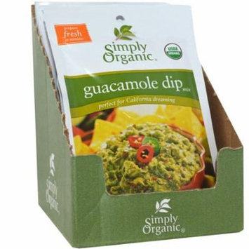 Simply Organic, Guacamole Dip Mix, 12 Packets, 0.8 oz (22.7 g) Each(pack of 4)