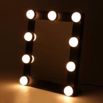 2017 New Portable Led Bulb Lighted Makeup Mirror With Dimmer Stage US Plug Mirror With Lights Beauty Mirror Decorative Mirror