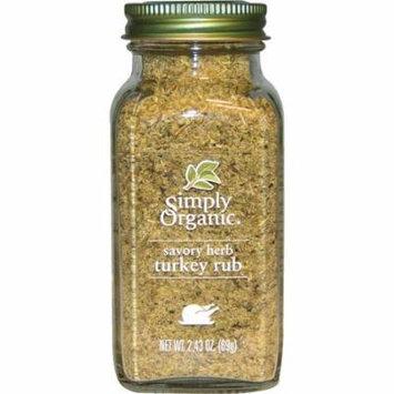 Simply Organic, Organic Savory Herb, Turkey Rub, 2.43 oz (pack of 6)