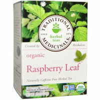Traditional Medicinals, Relaxation Teas, Organic Raspberry Leaf, Naturally Caffeine Free, 16 Wrapped Tea Bags, .85 oz(pack of 1)