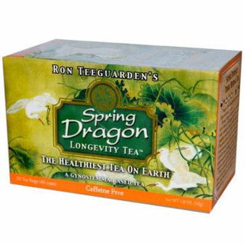 Dragon Herbs, Spring Dragon Longevity Tea, Caffeine Free, 20 Tea Bags, 1.8 oz (pack of 6)