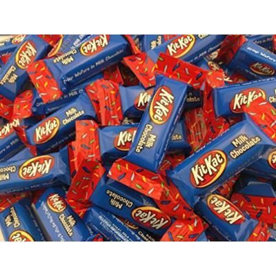 Kit Kat Birthday Miniatures Candy, Red, Yellow, Blue, 10 oz