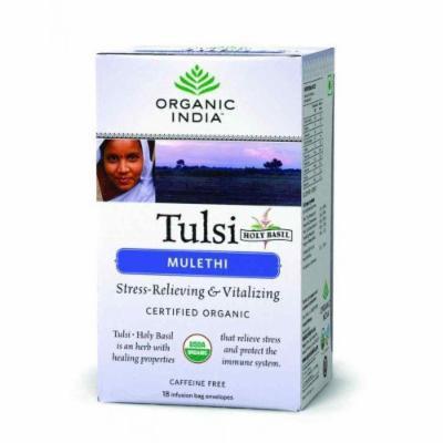 Organic India Tulsi Tea Mulethi 18 Tea Bags - By Pack Of 3