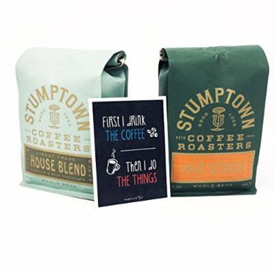 Stumptown Coffee - Hairbender and House Blend Coffee Gift Bundle, Whole Bean Roast, 12 oz bag