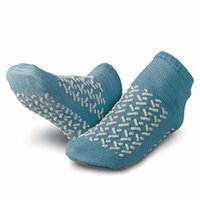 Patterson Medical Double-Tread Slippers - Large, Blue, 48 Pairs Per Case