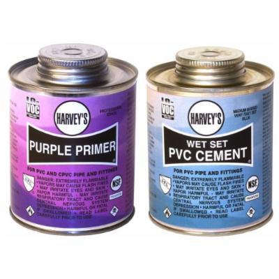 Wm Harvey 019550 2 Pack Purple Primer & Wet Set Pvc Cement