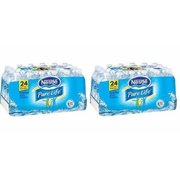 Nestle Pure Life pYGmFS Bottled Purified Water, 16.9 oz. Bottles, 24 Count (Pack of 2)