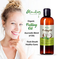 Glamology Organic Pulling oil with Coconut,Neem,Clove .100% NATURAL with Great Taste,Very effective and Light.