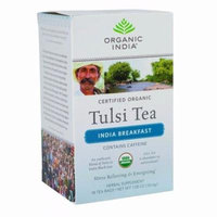 Organic India Organic Tulsi Tea - India Breakfast - 18 Tea Bags - Pack of 7