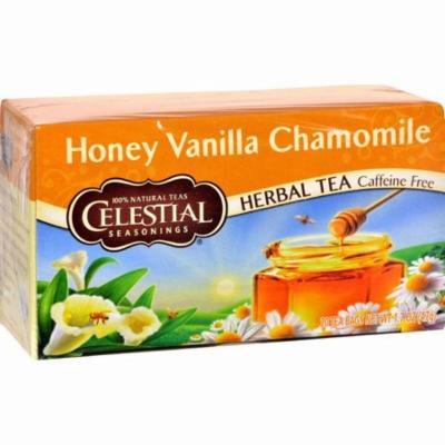 Celestial Seasonings Herbal Tea Caffeine Free Honey Vanilla Chamomile - 20 Tea Bags - Pack of 6