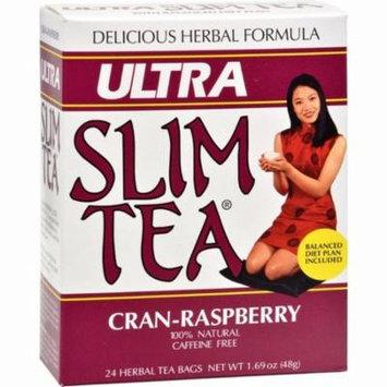 Hobe Labs Ultra Slim Tea Cran-raspberry - 24 Tea Bags