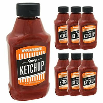 (7-PACK) Whataburger Spicy Ketchup - 40oz Bottle