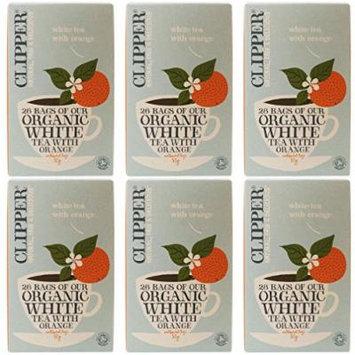 (6 PACK) - Clipper - Organic White Tea Orange | 26 Bag | 6 PACK BUNDLE