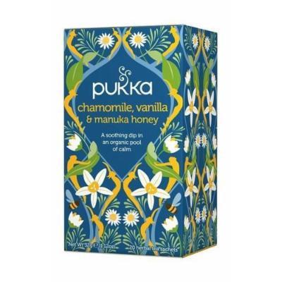 (12 PACK) - Pukka Chamomile Vanilla & Manuka Honey Tea  20 Bags  12 PACK - SUPER SAVER - SAVE MONEY