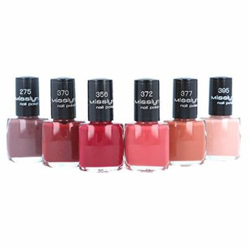 Misslyn Nail Polish 6 Piece Berry Collection