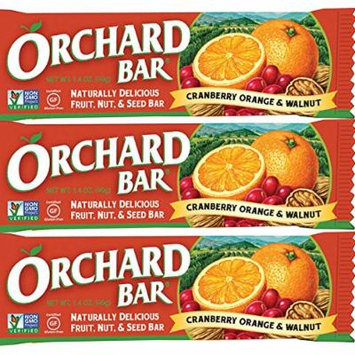 Liberty Orchards Cranberry Orange & Walnut Orchard Bars - 12 ct. Case - Non-GMO, Vega, No Dairy, No Trans Fats