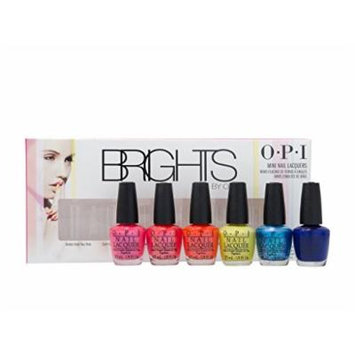 BRIGHTS Mini Nail Polish Lacquer Set of 6pc x 1/8oz each.