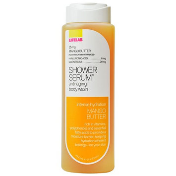 Lifelab Hydrating Mango Butter Age Counteractive Body Wash Shower Serum, 14.7 Fluid Ounce