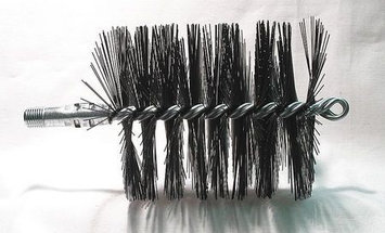TOUGH GUY 3EDG2 Flue Brush, Dia 3 3/4,1/4 MNPT, Length 8