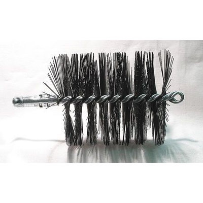 TOUGH GUY 3EDG2 Flue Brush, Dia 3 3/4,1/4 MNPT, Length 8