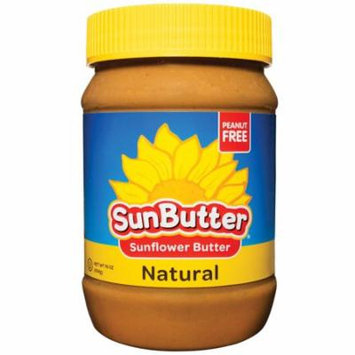 SunButter, Natural Sunflower Butter, 16 oz(pack of 12)