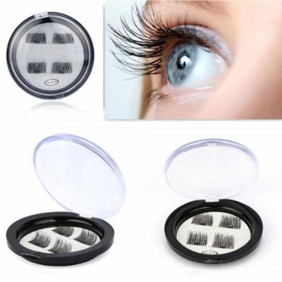 Mosunx® Natural Ultra-thin 0.2mm Magnetic Eye Lashes 3D Reusable False Magnet