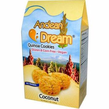 Andean Dream, Quinoa Cookies, Coconut, 7 oz (pack of 6)
