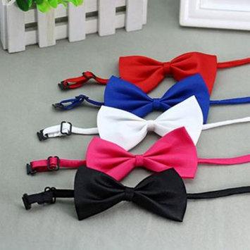 Girl12Queen Cute Solid Color Adjustable Cat Bowtie Pet Dog Collar Bowknot Necktie Bow Tie