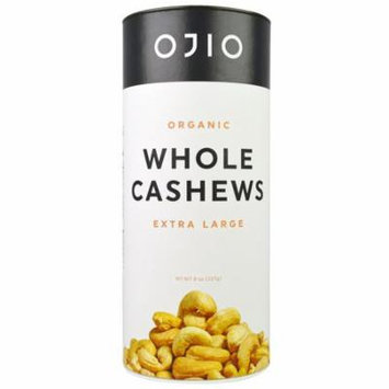 Ojio, Organic Whole Cashews, Extra large, 8 oz (pack of 2)