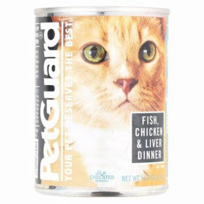 Petguard Cats Food - Fish, Chicken And Liver - Pack of 12 - 13.2 Oz.