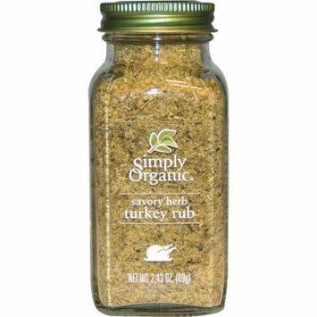 Simply Organic, Organic Savory Herb, Turkey Rub, 2.43 oz (pack of 2)