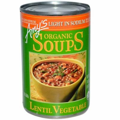 Amy's, Organic Soups, Lentil Vegetable, Light in Sodium, 14.5 oz(pack of 12)