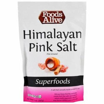 Foods Alive, Superfoods, Himalayan Pink Salt, Fine Ground, 14 oz (pack of 4)