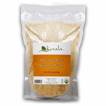 Kevala, Organic Raw Sesame Seeds, 16 oz(pack of 4)