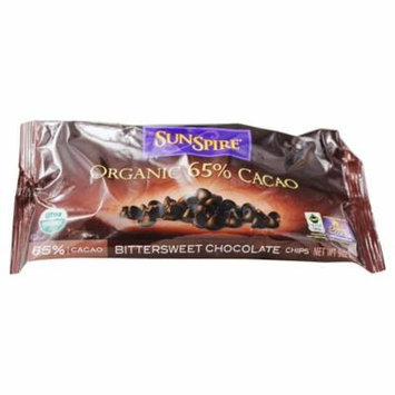 SunSpire - Organic 65% Cacao Bittersweet Chocolate - 9 oz. pack of 6