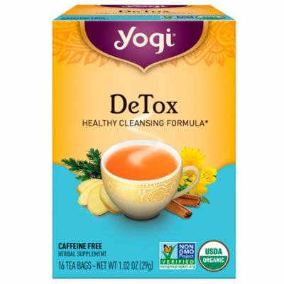 Yogi Tea, Detox, Caffeine Free, 16 Tea Bags, 1.02 oz(pack of 3)