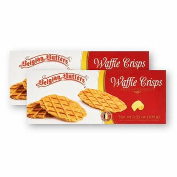 Belgian Butters Waffle Crisps 3.52 Oz (Pack of 2)