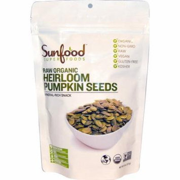 Sunfood, Raw Organic Heirloom Pumpkin Seeds, 8 oz (pack of 4)
